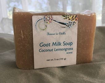 Goat Milk Soap - Coconut Lemongrass