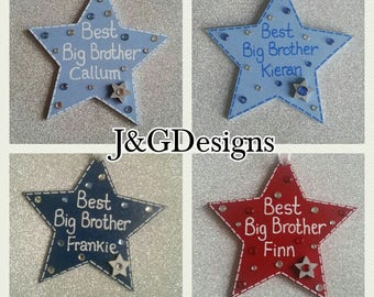 Best Big Brother Wooden Star Gift