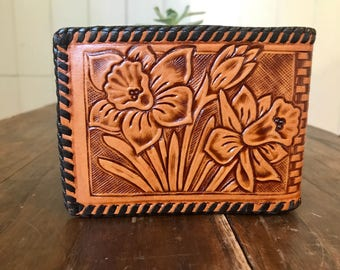 1960's Vintage Tooled Leather Wallet