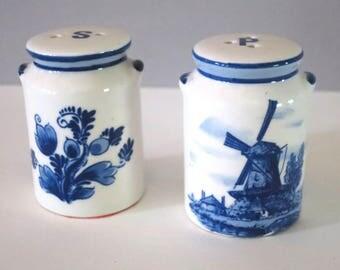 Vintage Delft Blue Salt & Pepper Shakers