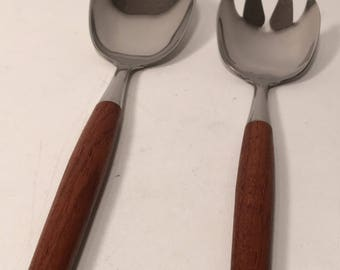Teak salad serving set Norway