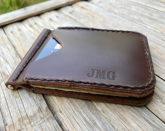 Money Clip Wallet For Men // Money Clip Wallet // Personalized Wallet for Men // Mens Wallets // Mens Leather Wallet // Wallets For Men