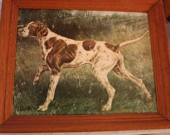 Vintage Framed Reproduction of a Pointer by Edmund Henry Osthaus