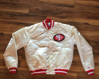 White San Francisco 49ers starter jacket men Large