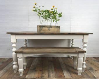 Carolina Farmhouse Table and Bench