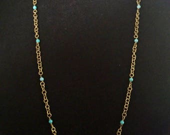 70's Boho Turquoise Station Chain