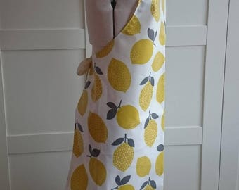 Adult PVC Apron in Lemons Design