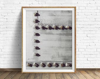 "black and white photography, large art, printable art, instant download printable art, digital download, industrial wall art -""Rivets No. 3"""