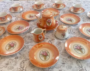 Vintage Lusterware Luncheon / Tea Set - Eleanor Pattern