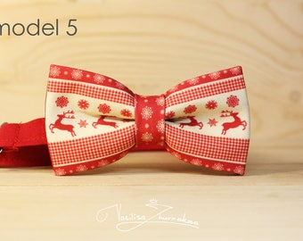 deer bow tie - bowtie new Year winter Christmas