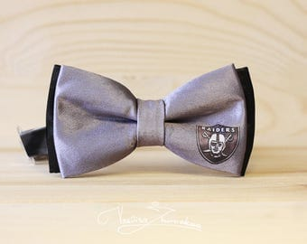Oakland Raiders Individual bow tie (satin fabric)