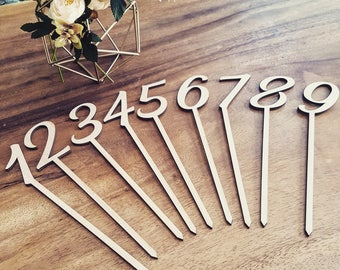 Table numbers for wedding or baptism or for you event and party table decor table cards wedding decorations wedding sign