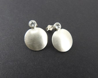 Topaz earrings Silver earrings Modern earrings Gifts for her natural jewelry Minimalist earring Spring gift Gemstone Gemstone stud earrings