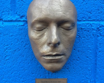 David Bowie life cast life mask Bronze resin