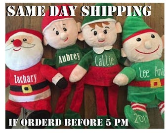 Christmas Elves, Personalized Elf, Personalized Stocking Stuffer, Custom Christmas Toy, Elves Personalized