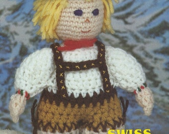 Swiss Yodeler, Annie's Attic Crochet Dolls of the World  Pattern Booklet 87L06