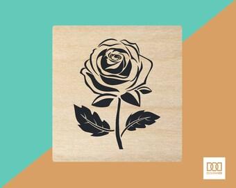 Rose - 3cm Rubber Stamp (DODRS0056)