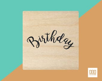 Birthday - 3cm Rubber Stamp (DODRS0153)