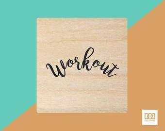 Workout - 3cm Rubber Stamp (DODRS0154)