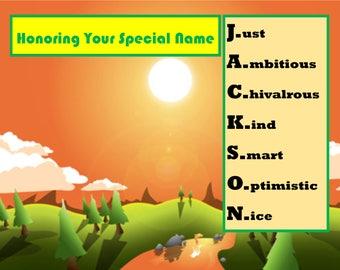 Special Nameplate - Jackson - Printable Downloadable Design