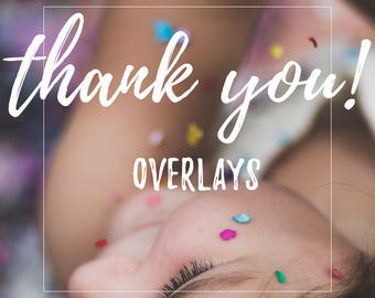 Thank you card overlay for photographers