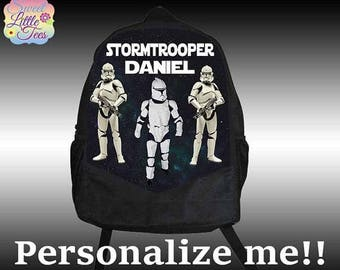 15% Off Personalized Stormtrooper Backpack, Star Wars backpack, Custom backpack