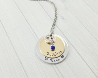 Baby Announcement Grandparent - Baby Announcement For Aunt - Nana Necklace - New Grandma Gift - New Grandma Necklace