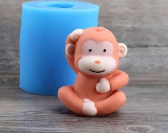 Cute Monkey Silicone Mould