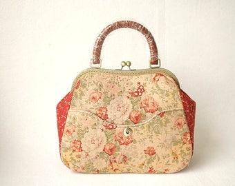 Vintage Floral Frame Bag