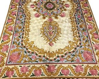 beautiful kashmiri oriental rug living room rug oriental rug white rug traditional