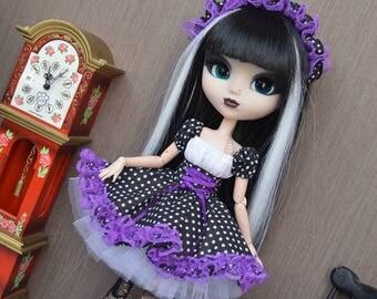 Outfit Thyam Gothic lolita dot [Pullip, Obitsu 27 cm =]
