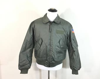 90's vintage U.S. AIR FORCE cwu-45/p flight bomber jacket size L