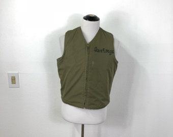 40's ww2 vintage U.S.NAVY alpaca liner deck vest size 40