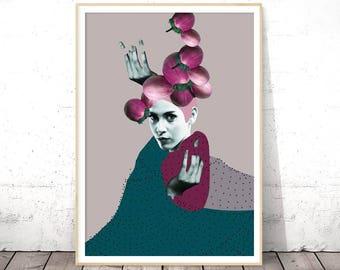 Surreal, Fashion Print, Collage, Collage Wall Art, Digital Download Art, Fashion Poster, Modern Art, Fashion Wall Art, Wall Art Printable