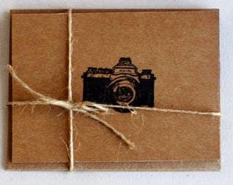 Set of Handmade Blank Camera Card