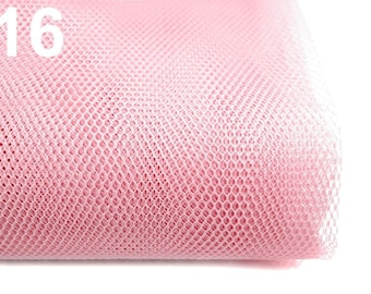 Netting Tulle Fabric 160 cm 100% polyamide - Light pink 16 / 1 m