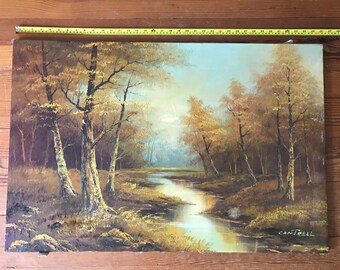 Original Cantrell Oil on Board Landscape Painting