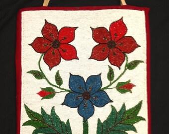 Antique traditional plateau floral flat bag