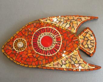 Orange mosaic fish