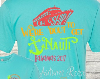 Monogrammed Cruise Shirt great for Ladies and Men Family Vacation Family Cruise