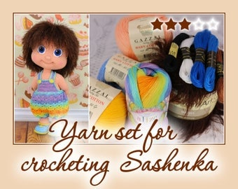 Yarn set for crocheting Sashenka