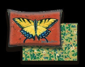 Yellow Swallowtail Butterfly Indoor Outdoor Pillow