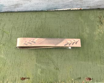 Vintage Sterling Silver Tie Money Clip 4g