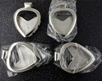 4 Stainless Steel Guitar Pick Holder, Focal Beads, Pendants - Free Shipping
