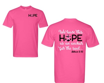 Breast Cancer Shirt, Breast Cancer Awareness Shirt, Breast Cancer Glitter Shirt, Breast Cancer Survivor TShirt,  Hope for the Soul Shirt