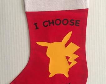 Pikachu Christmas Stocking