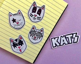 Kats Stickers/ Kiss/ Sticker Pack/ Cats/ Cute/ Laptop Stickers/ Planner Stickers