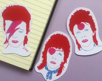 David Bowie-Ziggy Stardust-Vinyl Sticker Pack-Laptop-Planner-Stickers-Birthday Gift