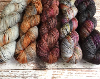 PREORDER - So Faded Kit #2 - Hand Dyed Yarn