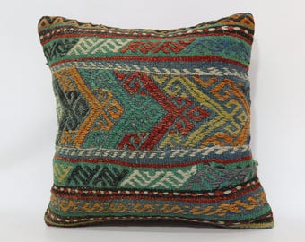 20x20 Decorative Kilim Pillow Sofa Pillow Throw Pillow 20x20 Anatolian Kilim Pillow Sofa Pillow Boho Pillow Cushion Cover SP5050-1910
